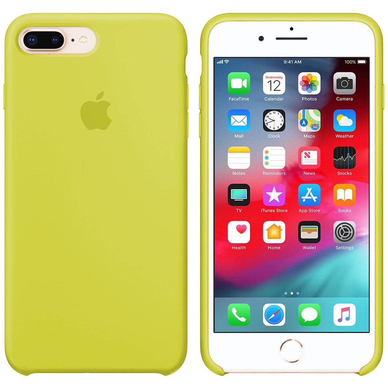 Силиконовый чехол для Apple iPhone 7 Plus / 8 Plus Silicone case (Лимонный)