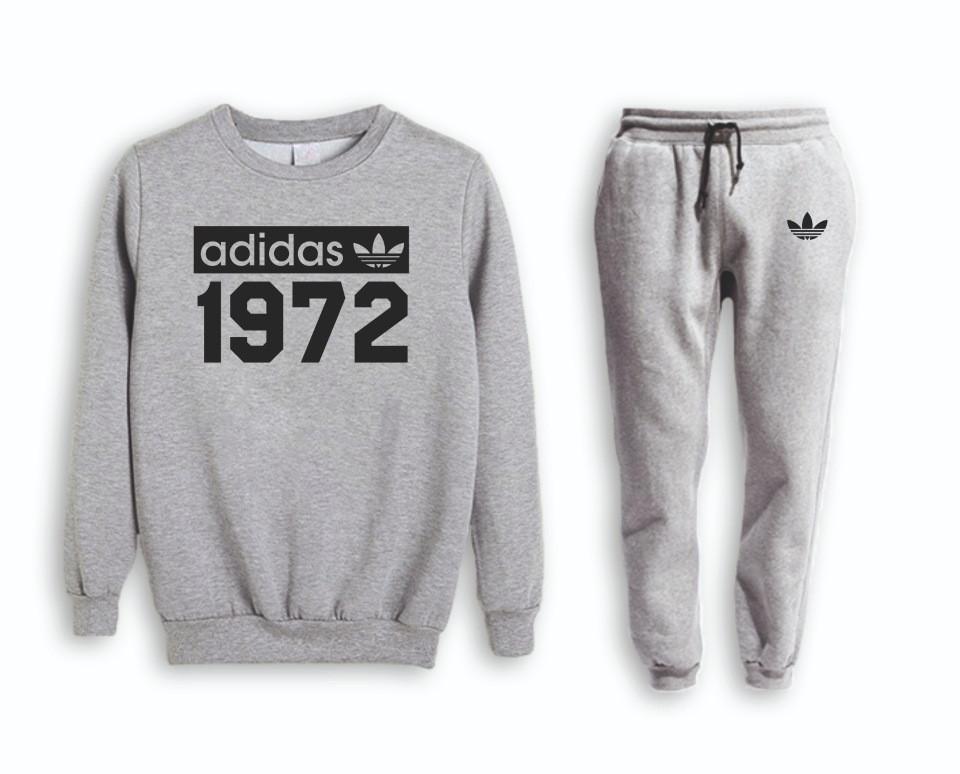 Сірий чоловічий Зимовий тренувальний костюм Adidas (Адідас)