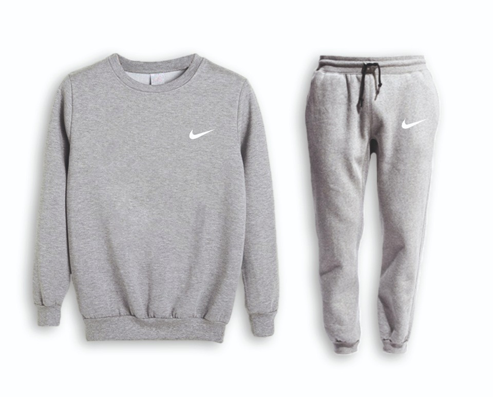 Сірий чоловічий Зимовий тренувальний костюм Nike (Найк)