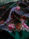 Торжество лета 1694-9, павлопосадский платок шерстяной  с шелковой бахромой, фото 4