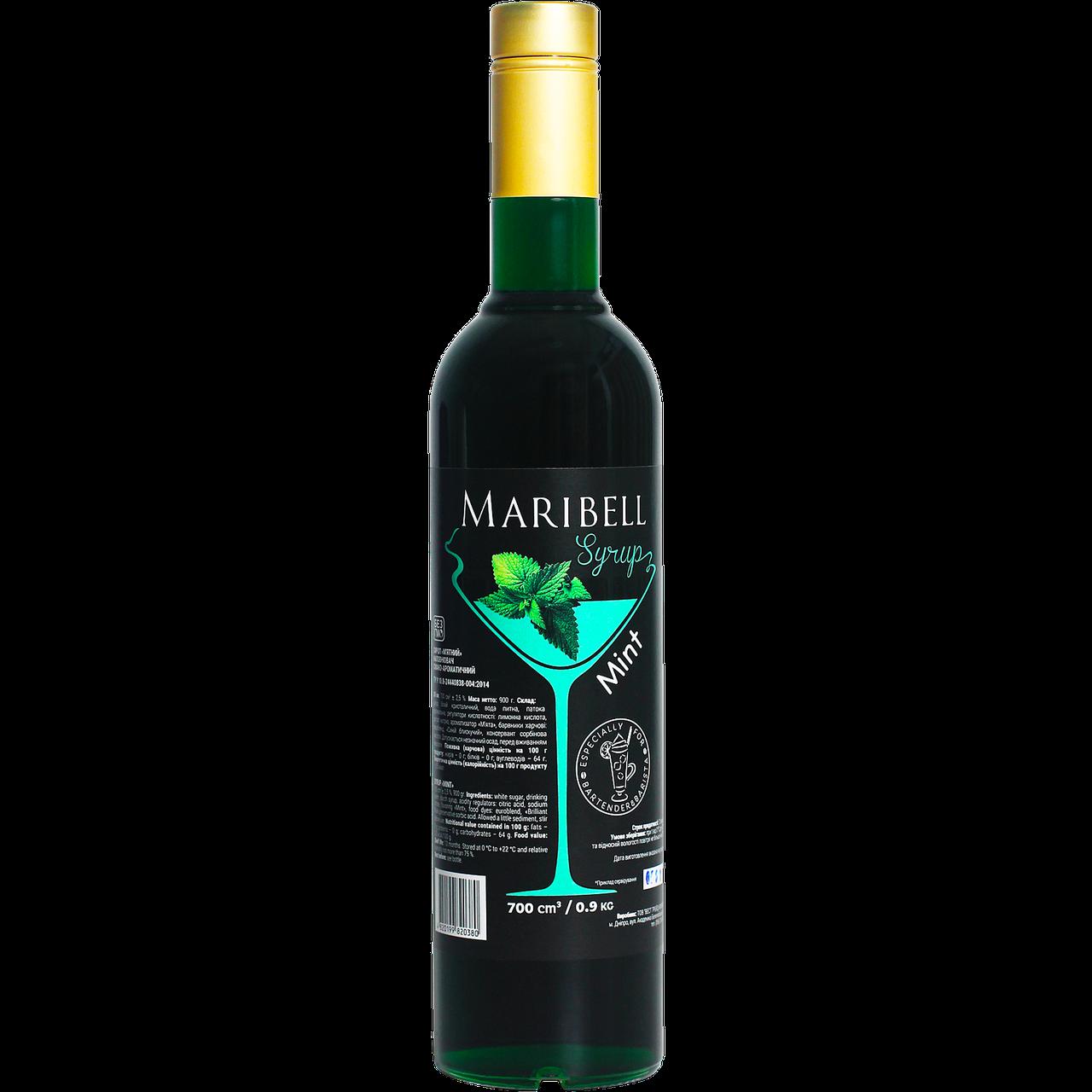 """Сироп коктейльный Maribell """"Мята"""" 700мл"""