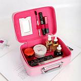 Кейс для косметики Туфелька ярко-розовый, фото 2