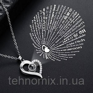 "Кулон Сердца ""Я тебя люблю"" на 100 языках мира.004"