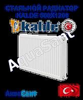 Стальной радиатор Kalde 500x1200 тип 22 боковое подключение