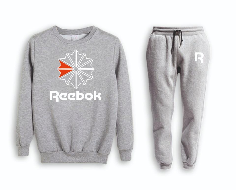 Сірий чоловічий Зимовий тренувальний костюм Reebok(Рібок)