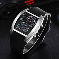 Мужские светодиодные электронные часы (Чёрные)