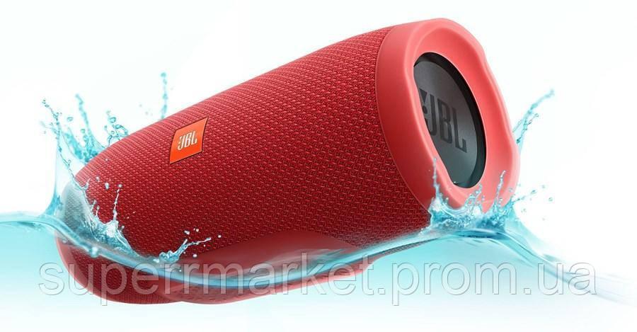 JBL Charge 3+ копия, акустика с FM Bluetooth MP3, красная
