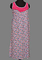 4ac6c828f1d602c Ночная сорочка без рукава длинная женская (ночнушка) трикотажная хлопковая больших  размеров Украина