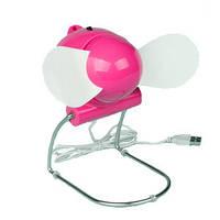 Вентилятор «USB» рожевий