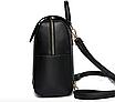 Рюкзак женский городской молодежный Style черный, фото 3