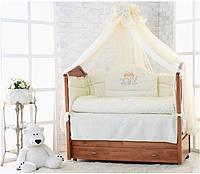 """Набор постельного белья для детей в кроватку """"Ангел""""- Класс Элит Люкс из 7 пр.+Подарочная упаковка."""