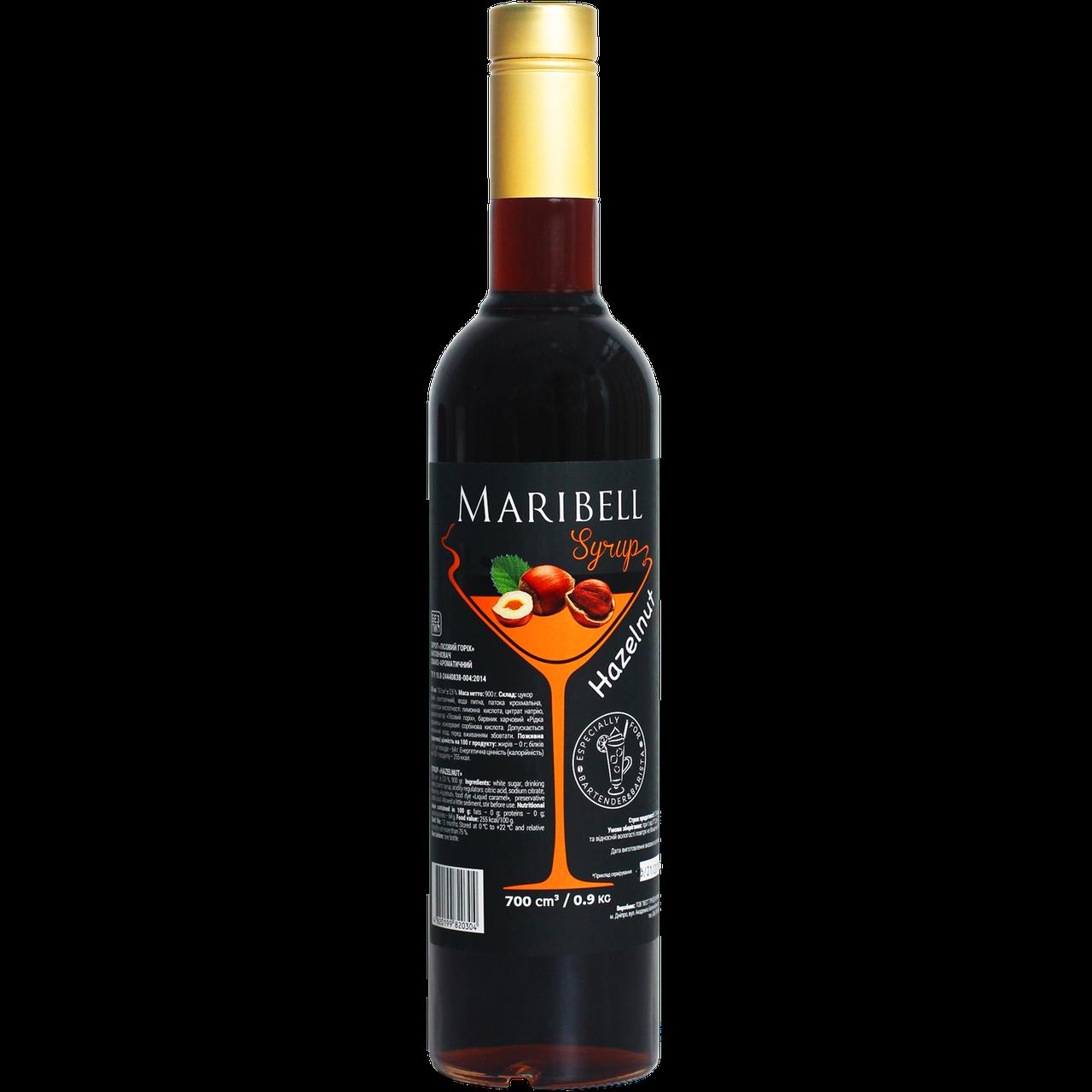 """Сироп коктейльный Maribell """"Лесной орех"""" 700мл"""