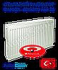 Стальной радиатор Sanica 500x600 тип 22 боковое подключение