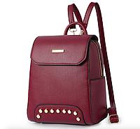 Рюкзак женский с заклепками Style Бордовый