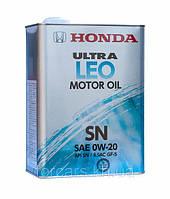 Оригінальне моторне японське масло в залізній банці HONDA ULTRA LEO 0W-20 SN (4L) 08217-99974 0W-20