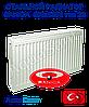 Стальной радиатор Sanica 500x1200 тип 22 боковое подключение