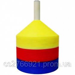 Маркер тренировочный SELECT Marker Set 48 pcs w/plastic holder (16 синих+16желтых+16красных)