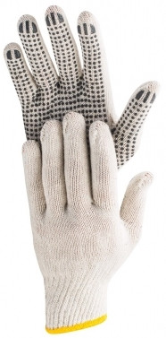 Перчатки рабочие хлопчатобумажные с вкраплениями Hardy, размер XL, 12 пар