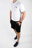 Футболка поло чоловіча річна Puma біла стильна модна, фото 1