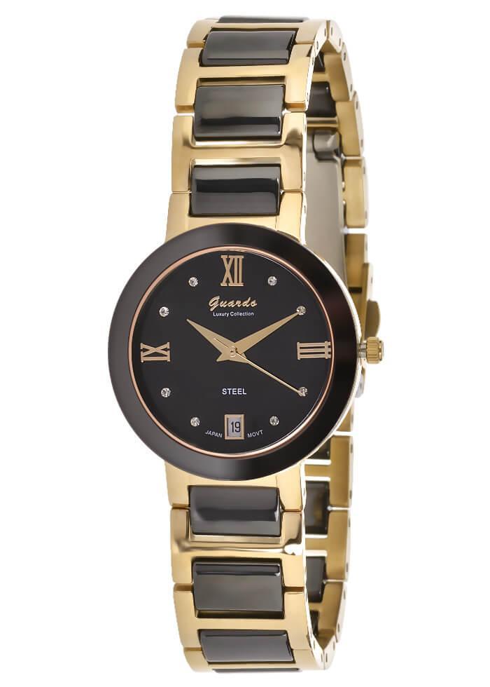 Часы женские Guardo S0342-2 черно-золотые