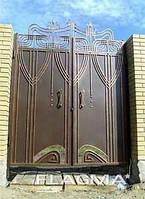 Копия Кованые ворота. Ворота металлические кованные....