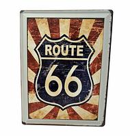 Винтажная табличка «Route 66»