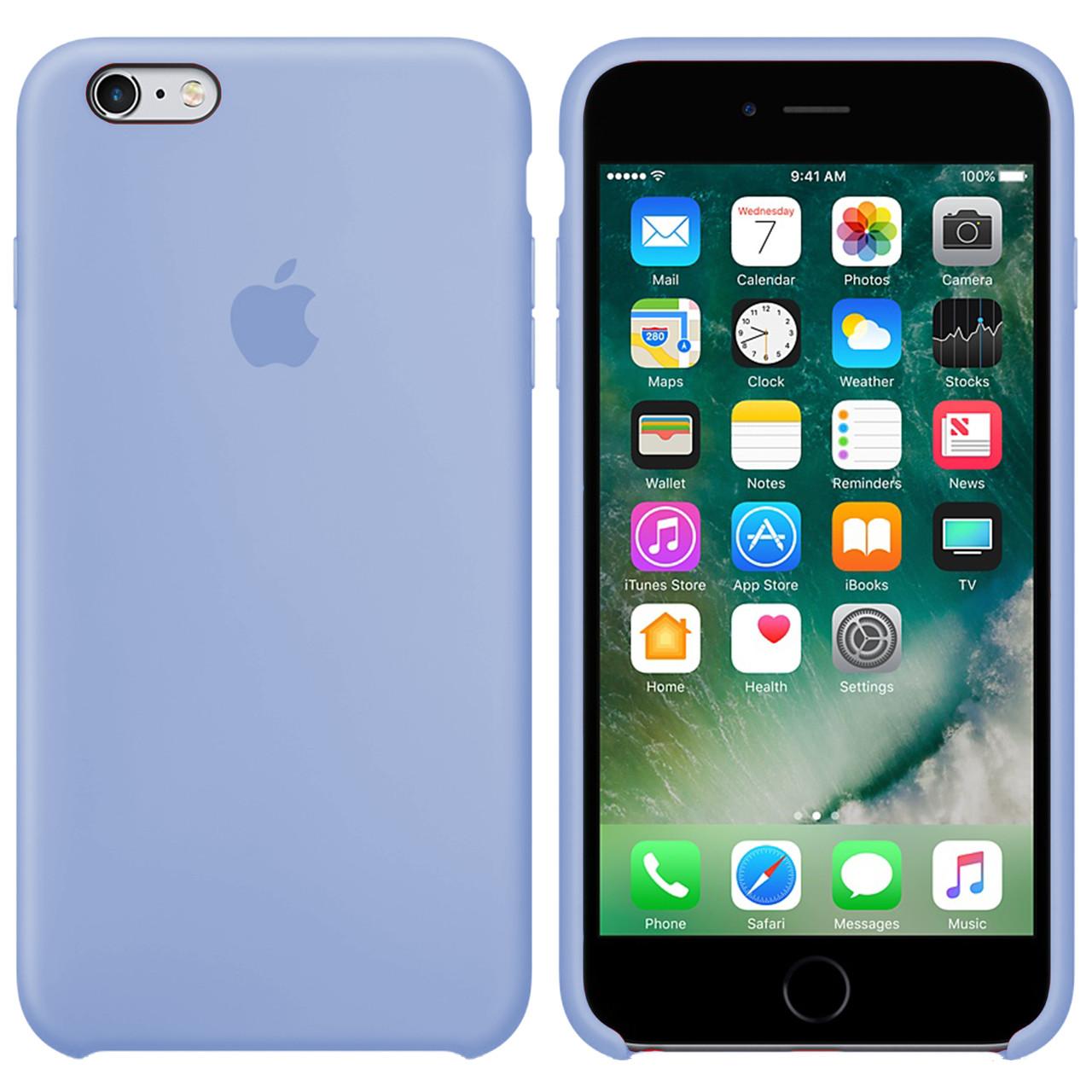Силиконовый чехол для Apple iPhone 6 Plus / 6S Plus Silicone case (Фиалковый)