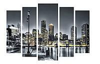 Модульная картина Декор Карпаты 120х80 см Город (M5-250)