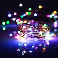Гирлянда светодиодная нить 10 м 100 led разноцветная RGB 220W