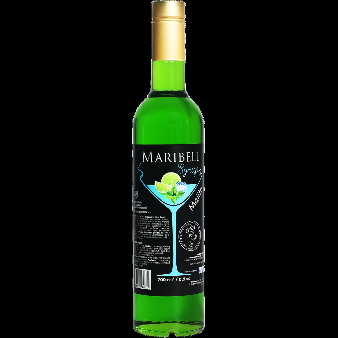 """Сироп коктейльный Maribell  """"Мохито"""" 700мл"""
