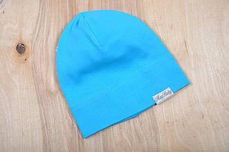 Трикотажная шапка, Бирюзовая, 50-54 см