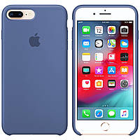 Силиконовый чехол для Apple iPhone 7 Plus / 8 Plus Silicone case (Лавандовый Серый)