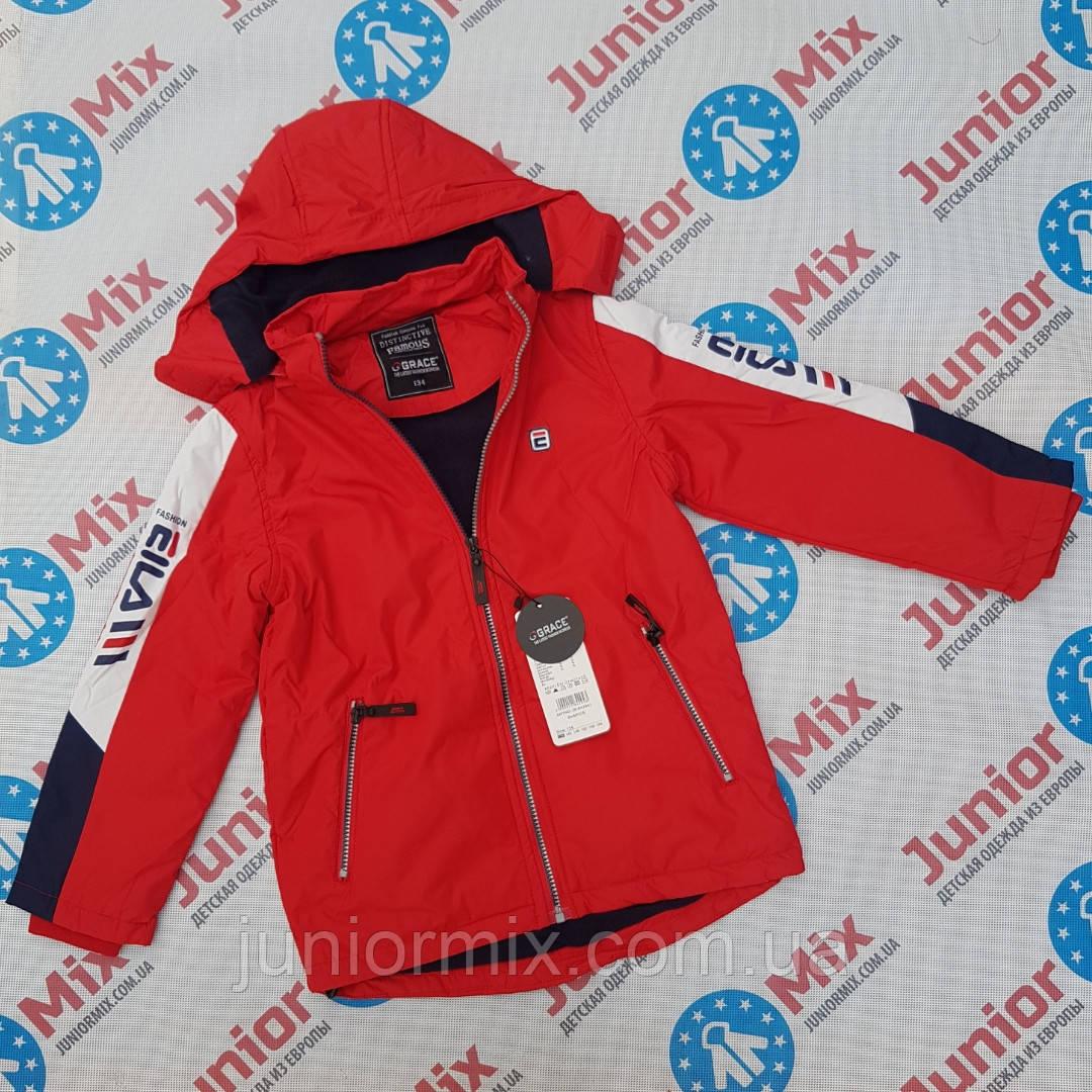 Подростковая демисезонная куртка  на флисе для мальчиков оптом GRACE