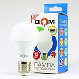 Светодиодная лампа Biom BT-512 A60 12W E27 4500К матовая, фото 3