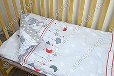 """Детское постельное белье в кроватку """"Карапуз"""" комплект 7 ед. Мишка подушка серый, фото 3"""