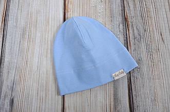 Трикотажная шапка, Голубая