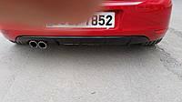 Накладка на задний диффузор (ABS, Черная) Volkswagen Golf 7