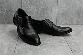 Туфли Slat 1801 (весна/осень, мужские, натуральная кожа, черный)