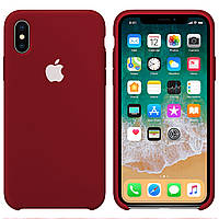 Силиконовый чехол для Apple iPhone XR Silicone case (Бордо)