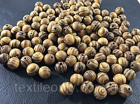 Деревянные бусины узор можжевельник 11 мм упаковка