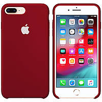 Силиконовый чехол для Apple iPhone 7 Plus / 8 Plus Silicone case (Бордо)