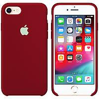 Силиконовый чехол для Apple iPhone 7 / 8 Silicone case (Бордо)