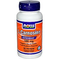 L-карнозин (L-Carnosine) Now Foods 500 мг 50 капсул