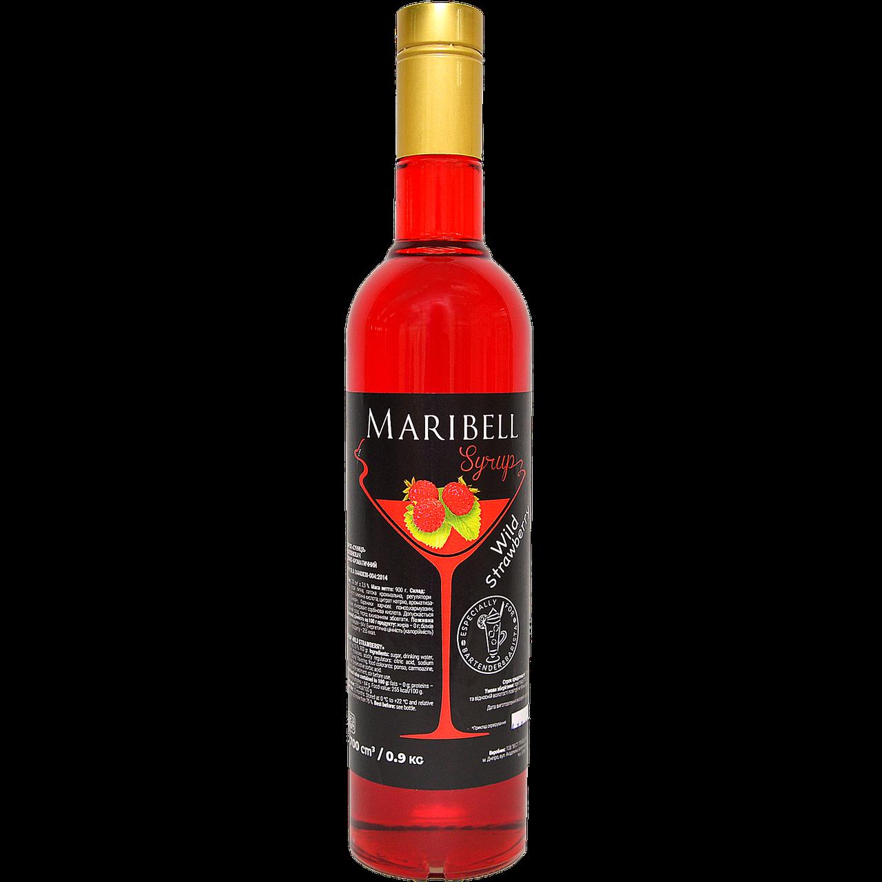 """Сироп коктейльный Maribell  """"Земляника"""" 700мл"""