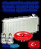 Стальной радиатор Sanica 300x600 тип 22 нижнее подключение