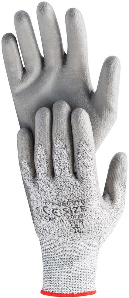Перчатки рабочие полиуретановые PU Hardy EN 388-4543, размер XL, 12 пар