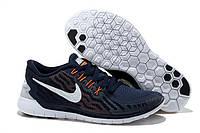 Кроссовки Nike Free Run 5.0 темно-синего цвета, фото 1