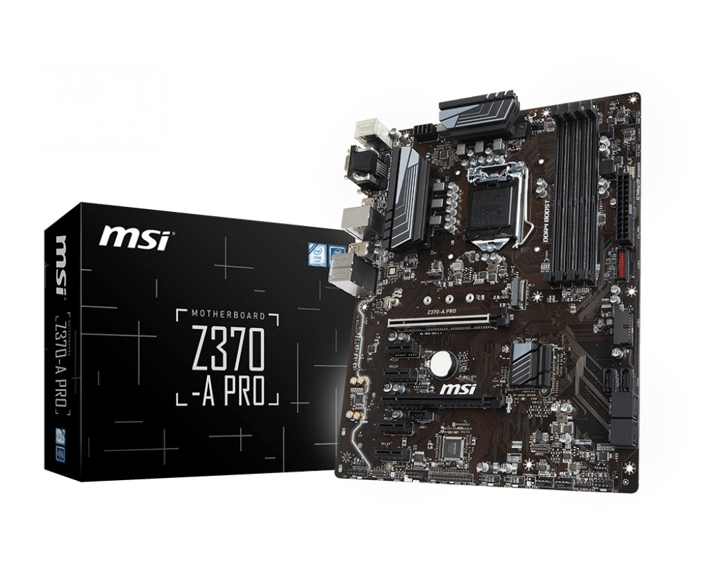 "Материнская плата MSI Z370-A PRO Socket 1151v2 DDR4 ""Over-Stock"" Б/У"