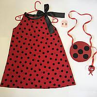 Платье Леди Баг с набором: клипсы, сумочка, Тикки, фото 1