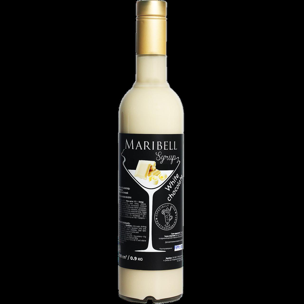 """Сироп коктейльный Maribel  """"Белый шоколад"""" 700мл"""